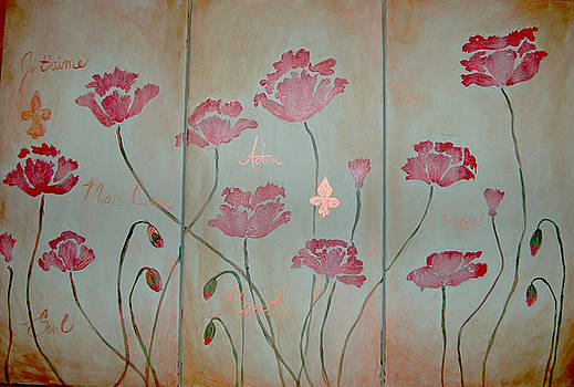 Poppies III by Andrea Harston