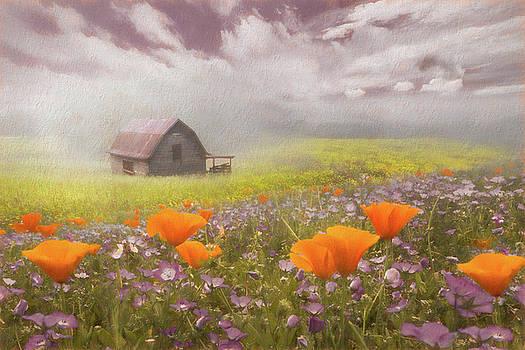 Debra and Dave Vanderlaan - Poppies in a Dream Watercolor Painting