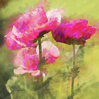 Poppies in breeze  by Shari Whittaker