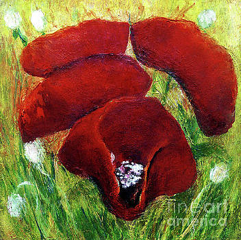 Poppies In Field by Jasna Dragun