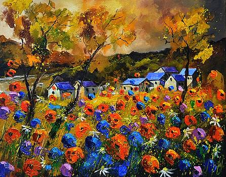 Poppies in Houroy 108 by Pol Ledent