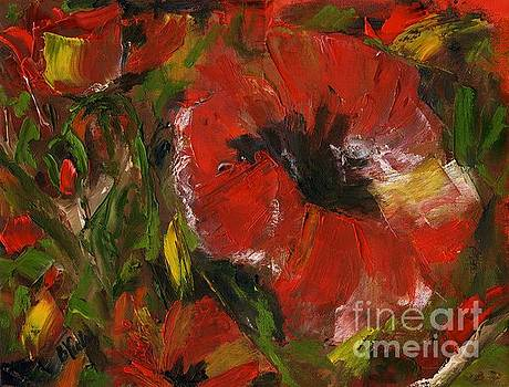 Poppies in Oil by Bev Veals