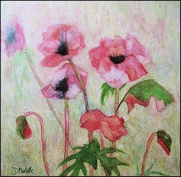 Poppies in the Wind by Diane Marcotte