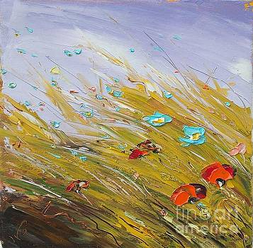 Poppies in violet by Ivailo Georgiev
