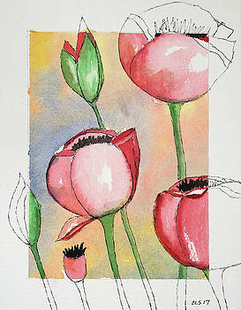 Poppies Interrupted by Cynthia Schoeppel
