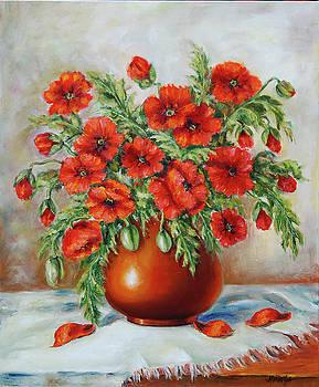 Poppies by Mimoza Oronova