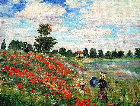 Poppies Near Argenteuil by Peter Kupcik