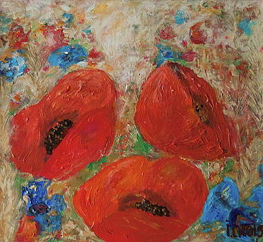 Poppies. Not evening yet by Inga Leitasa ArtBonBon