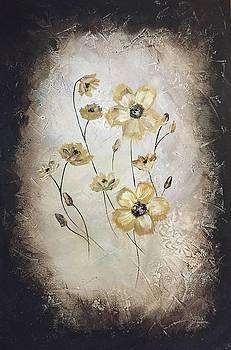 Poppies on Black by Christy Chen