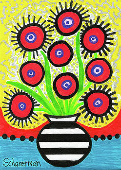 Poppin' Red Poppies by Susan Schanerman