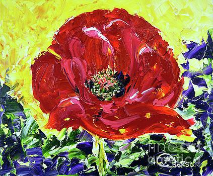 Poppy Amongst Lavender by Lynda Cookson