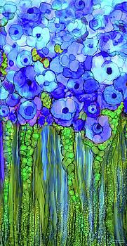 Poppy Bloomies 2 - Blue by Carol Cavalaris