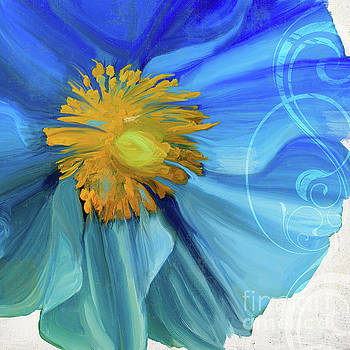 Poppy Blues IV by Mindy Sommers