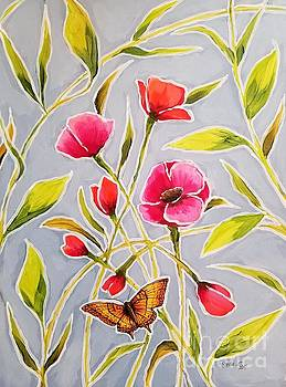 Poppy Butterfly II by Sandra Lett