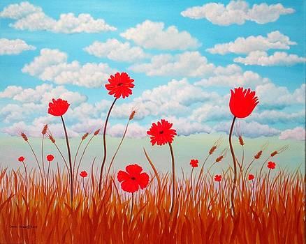 Poppy Field by Carol Sabo
