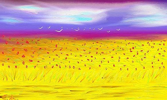 Poppy Field by Lazar Caran