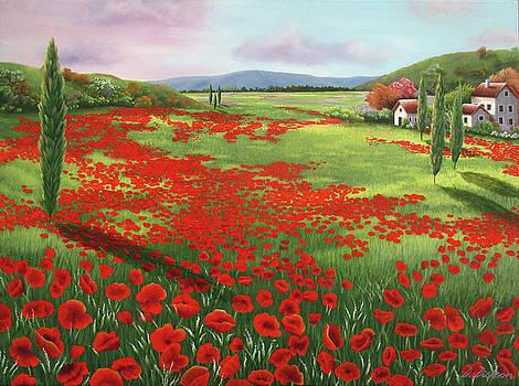 Poppy fields by Debra Dickson