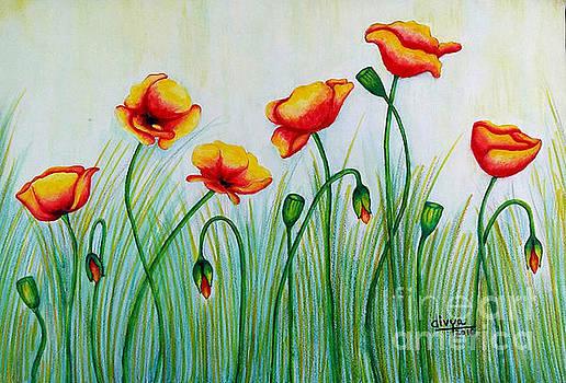 Poppy Flowers by Divya Kakkar