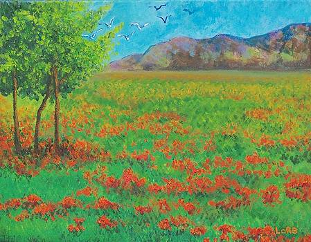 Poppy Meadow by Lore Rossi