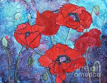 Poppy Profusion by Diane Marcotte