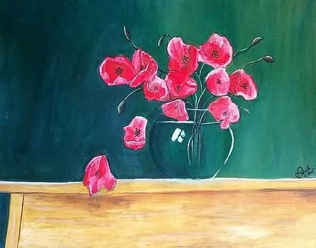 Poppy Still Life by Carol Duarte