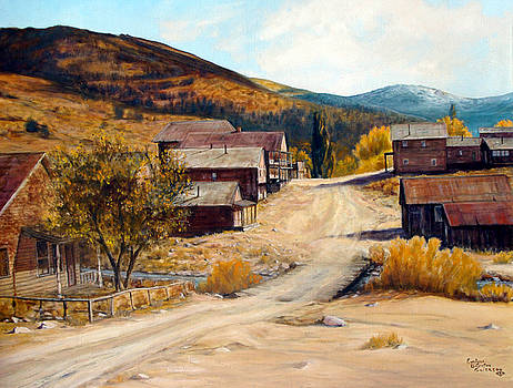 Population 0 Ghost Town of Silver City Idaho by Evelyne Boynton Grierson