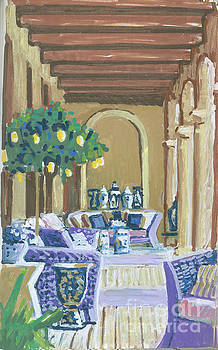 Candace Lovely - Porch Room with Blue Jars