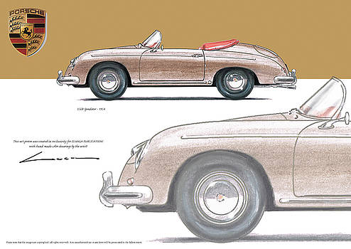 Porsche 356 Speedster 1954 by Luc Cannoot