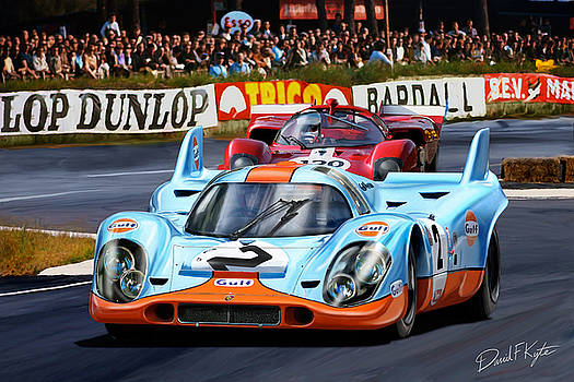Porsche 917 at Le Mans by David Kyte