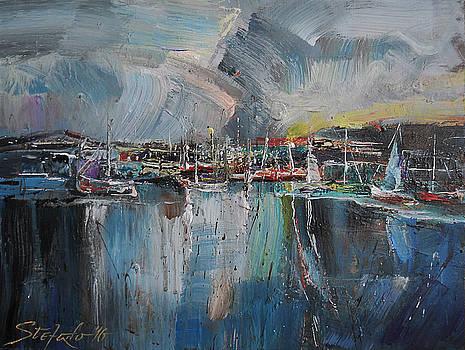 Port at Dusk II by Stefano Popovski