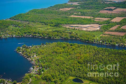 Port Bay Aerial Photo by John Baumgartner