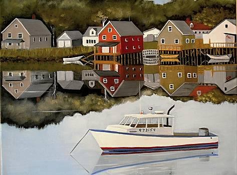 Port Clyde Maine by Janet Glatz