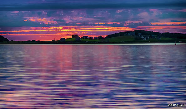 Port Hood Island at Sunset by Ken Morris