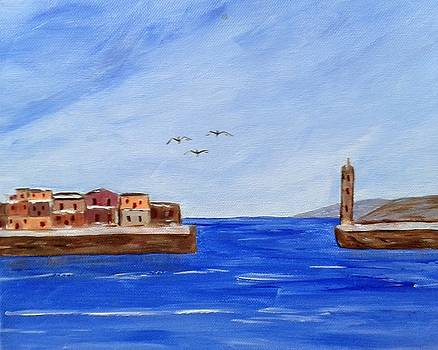Port of Chania-Greece by Manolia Michalogiannaki