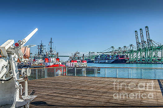 Port of Los Angeles San Pedro CA by David Zanzinger
