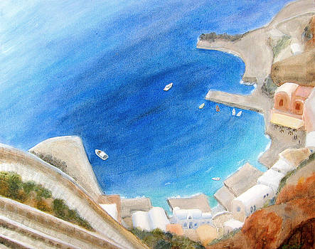 Port of Oia by Keiko Richter