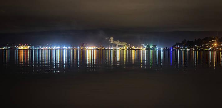 Port Of Tacoma Lights by Jason Butts