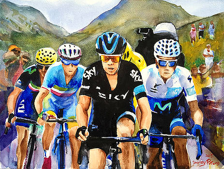 Porte Quintana Froome and Nibali by Shirley Peters