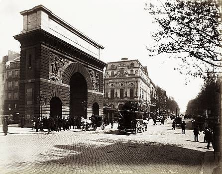 Porte Saint-Martin, Boulevard Saint-Martin, Paris ca. 1890 by Vintage Printery