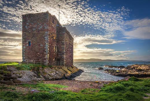 Portencross Castle In The Gloaming by Tylie Duff