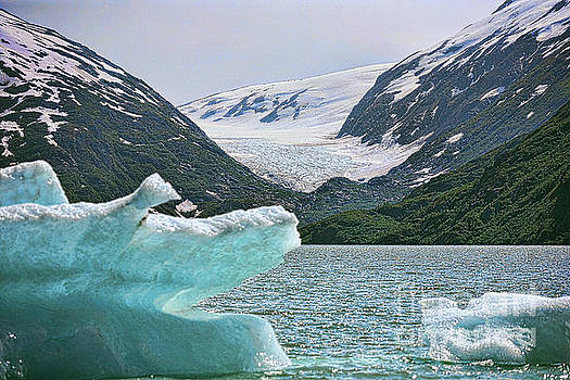 Porter Glacier Alaska  by Chuck Kuhn