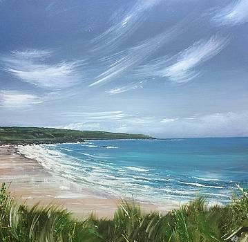 Porthmeor Beach, St.Ives  by Keran Sunaski Gilmore