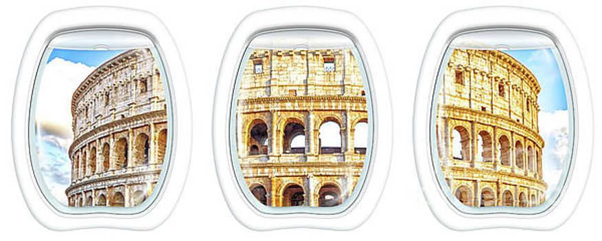Porthole windows on Colosseo by Benny Marty