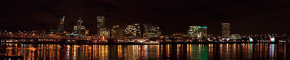 Portland at night by Richard Ferguson