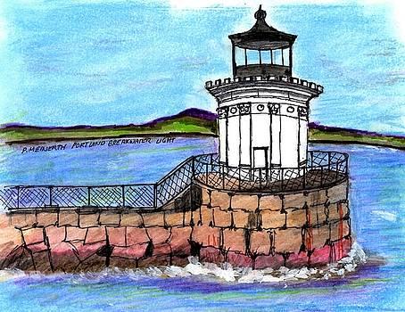 Portland Breakwater Lighthouse by Paul Meinerth