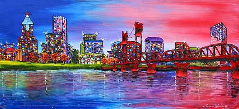 Portland City Lights #106 by Portland Art Creations