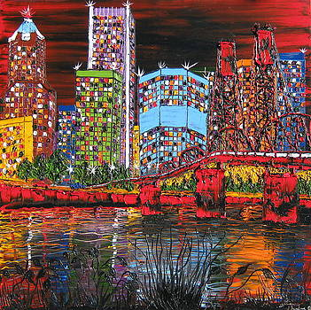 Portland City Lights 12 by Portland Art Creations