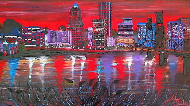 Portland City Lights 2 by Portland Art Creations