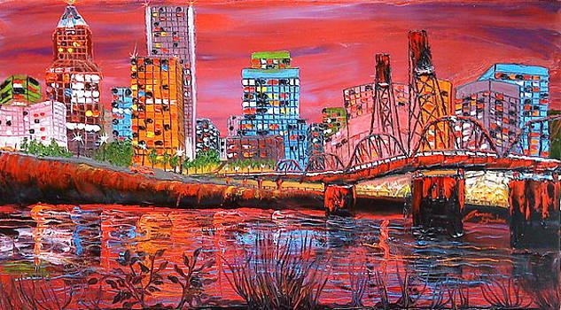 Portland City Lights 3 by Portland Art Creations