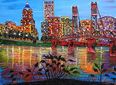Portland City Lights 9 by Portland Art Creations